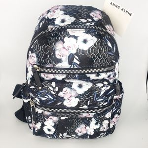 New Anne Klein Bria Floral Backpack